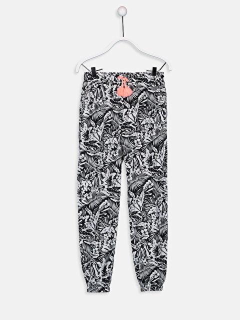 Kız Çocuk Desenli Pamuklu Jogger Pantolon - LC WAIKIKI