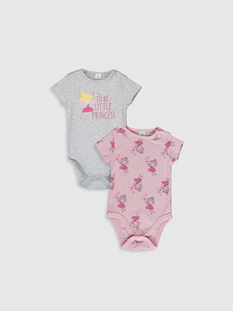 Kız Bebek Desenli Çıtçıtlı Body 2'li - LC WAIKIKI