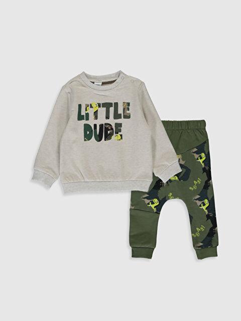 Erkek Bebek Kamuflaj Desenli Sweatshirt ve Jogger Pantolon - LC WAIKIKI