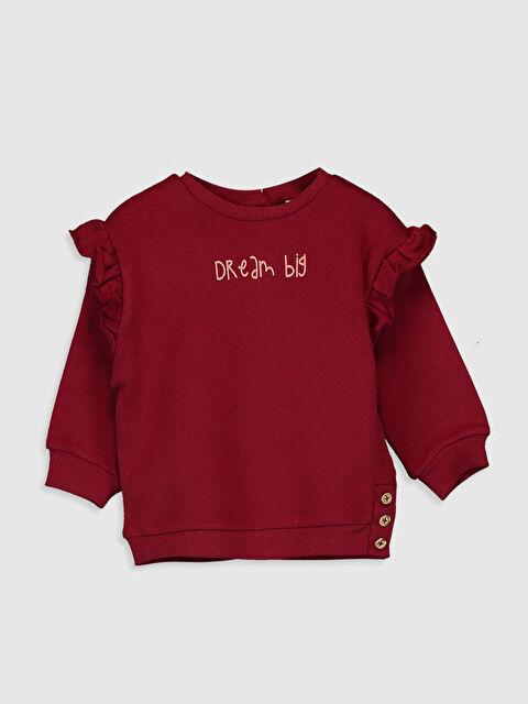 Kız Bebek Fırfırlı Sweatshirt - LC WAIKIKI
