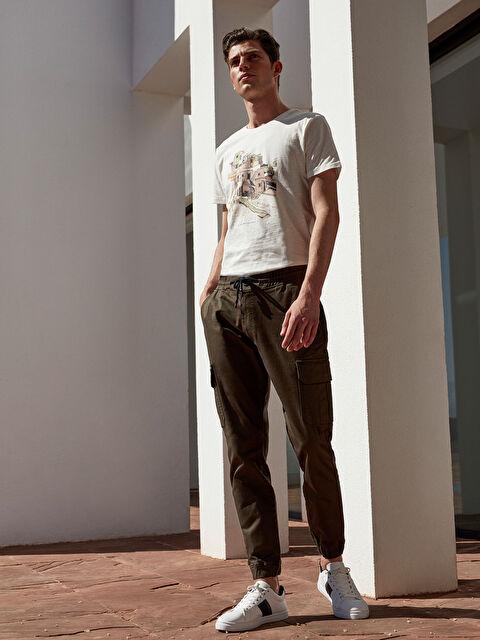 Slim Fit Gabardin Kargo Pantolon - LC WAIKIKI