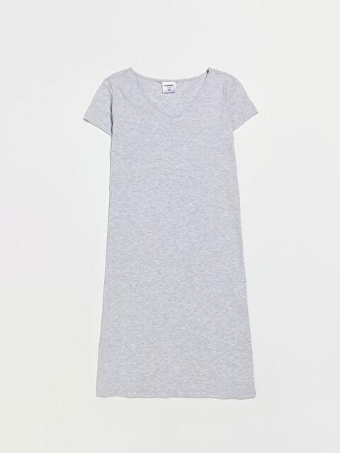 Yırtmaç Detaylı  V Yaka Elbise - LC WAIKIKI