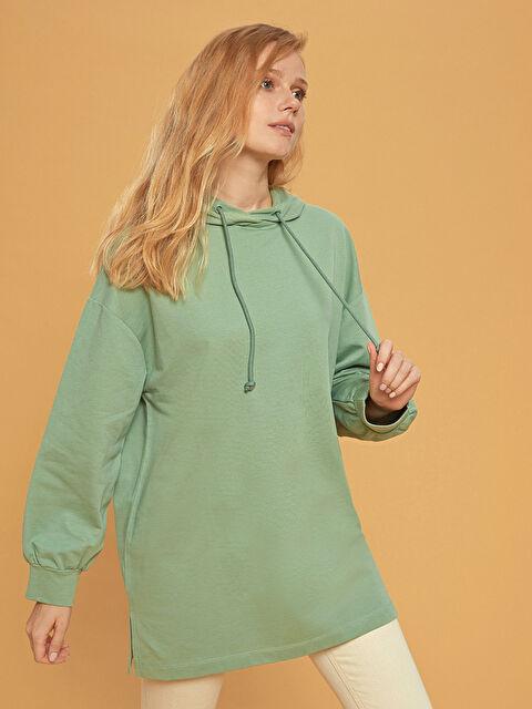 Kapüşonlu Oversize Sweatshirt - LC WAIKIKI