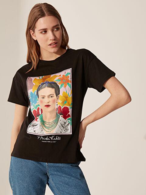 Frida Kahlo Baskılı Pamuklu Tişört - LC WAIKIKI