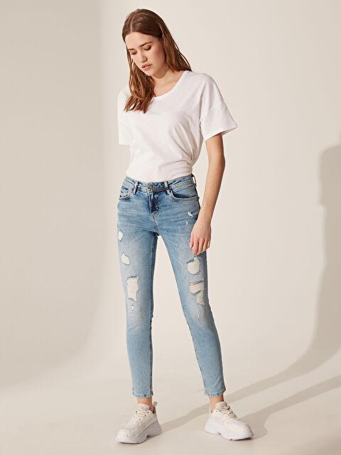 Yıpratma Detaylı Skinny Jean Pantolon - LC WAIKIKI