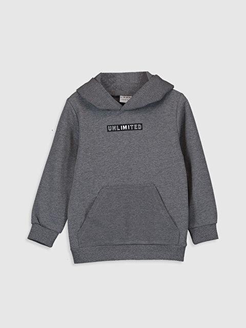 Erkek Çocuk Baskılı Kapüşonlu Sweatshirt - LC WAIKIKI
