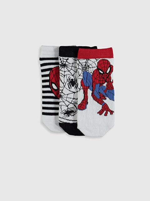 Erkek Çocuk Spiderman Patik Çorap 3'lü - LC WAIKIKI