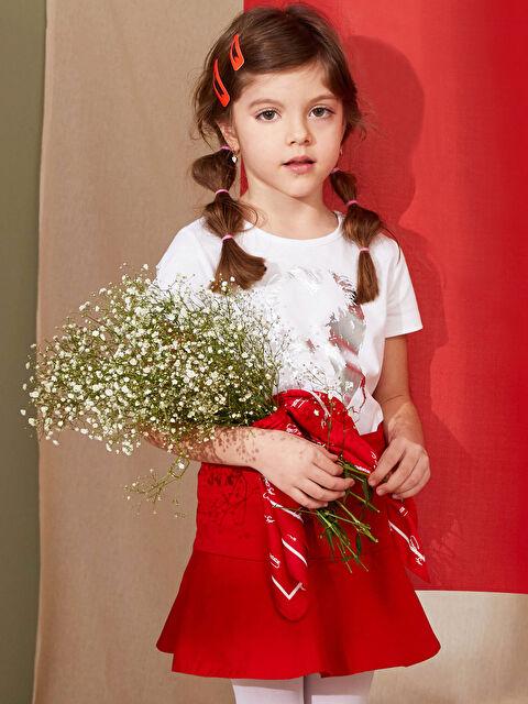 Kız Çocuk Desenli Saten Fular - LC WAIKIKI