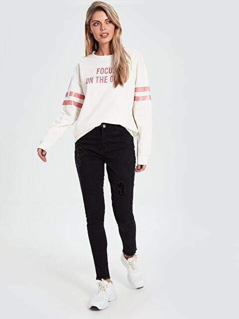 İşlemeli Skinny Jean Pantolon - LC WAIKIKI
