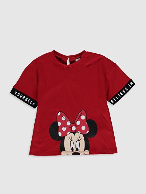 Kız Bebek Minnie Mouse Baskılı Pamuklu Tişört - LC WAIKIKI