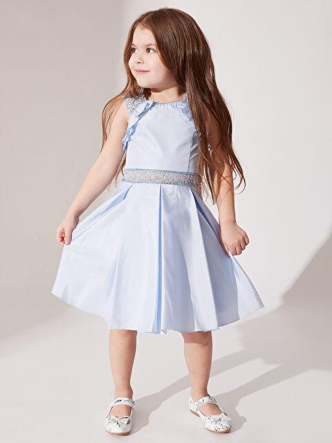Daisy Girl Kız Çocuk Dantel Detaylı Abiye Elbise - Markalar