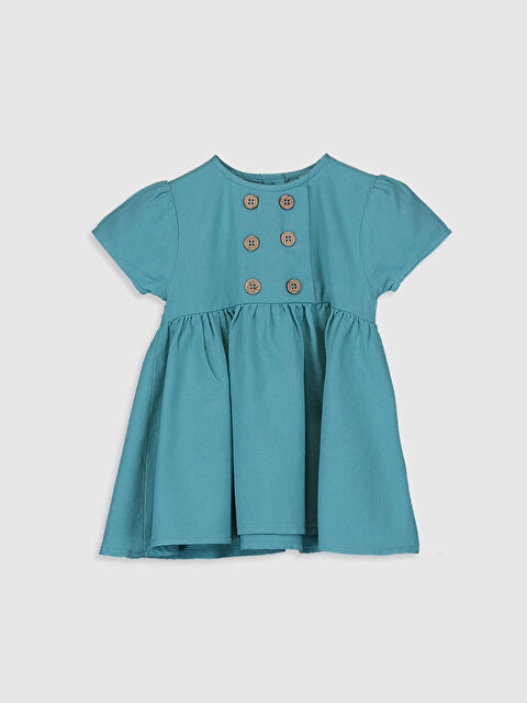 Kız Bebek Düğmeli Twill Elbise - LC WAIKIKI