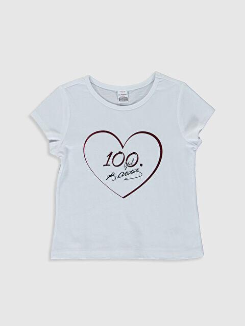 Kız Bebek Atatürk İmza Baskılı Tişört - LC WAIKIKI