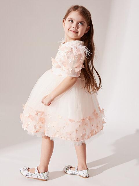 Daisy Girl Kız Bebek Kelebek Detaylı Abiye Elbise - Markalar