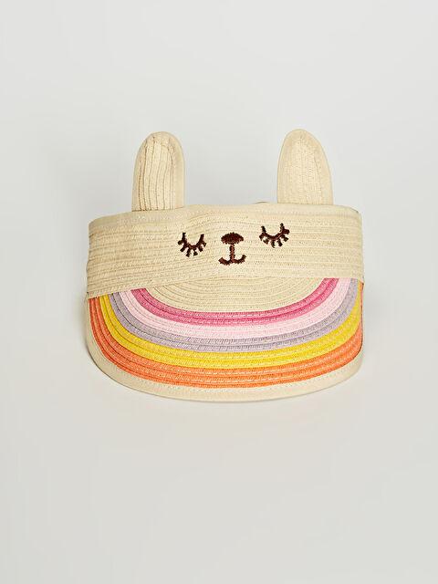 Kız Çocuk Hasır Vizör Şapka - LC WAIKIKI