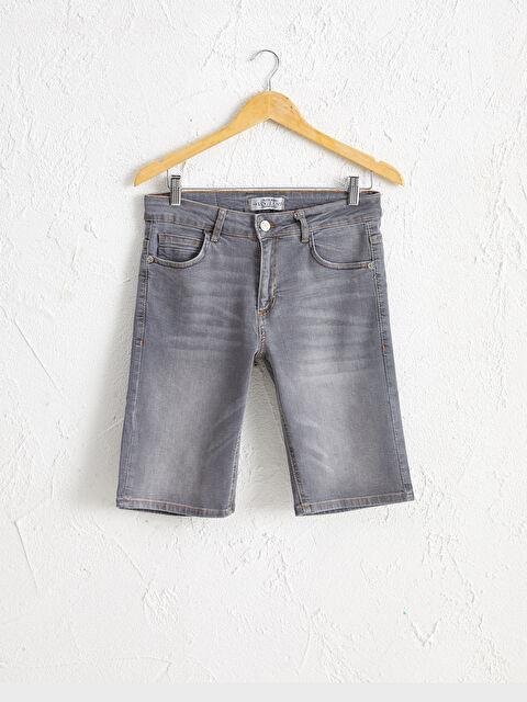 Skinny Fit Bermuda Jean Şort - LC WAIKIKI