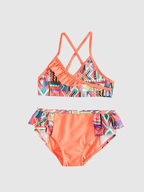Kız Çocuk Baskılı Fırfırlı Bikini - LC WAIKIKI