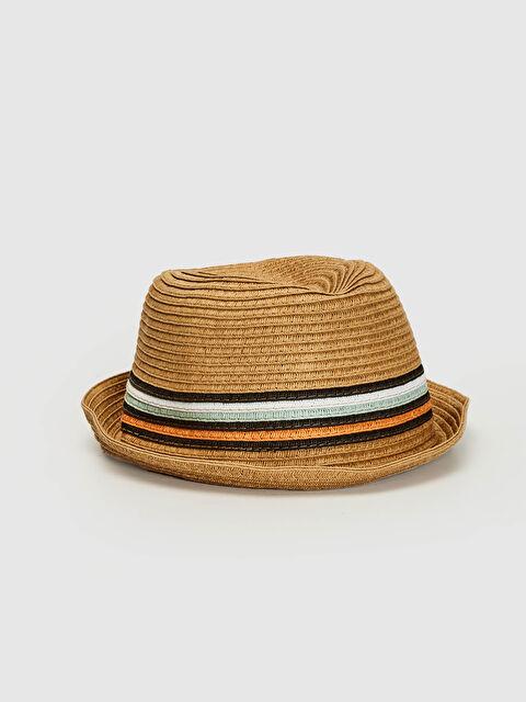 Erkek Çocuk Şerit Detaylı Hasır Fötr Şapka - LC WAIKIKI