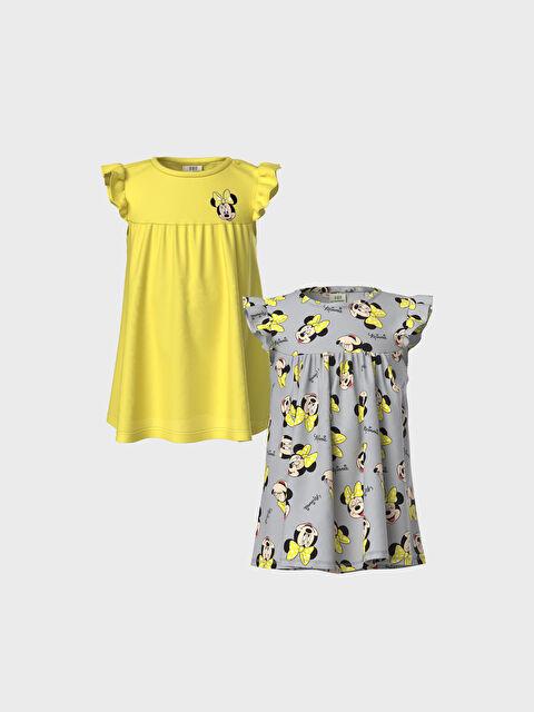 Kız Bebek Minnie Mouse Baskılı Elbise 2'li - LC WAIKIKI