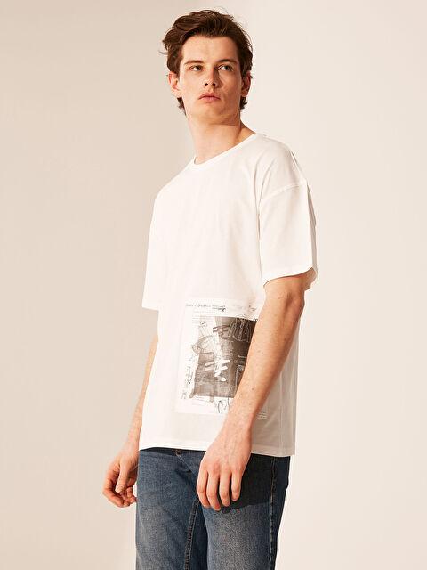 Oversize Baskılı Penye Tişört - LC WAIKIKI