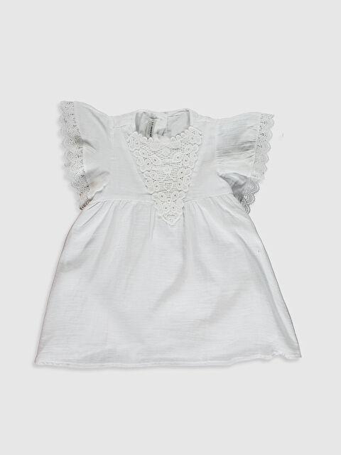 Kız Çocuk Dantel Detaylı Pamuklu Elbise - LC WAIKIKI