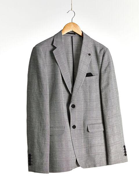 Rahat Kalıp Ekose Blazer Ceket - LC WAIKIKI