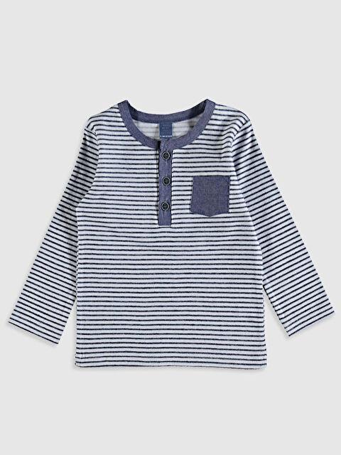 Erkek Bebek Çizgili Pamuklu Tişört - LC WAIKIKI