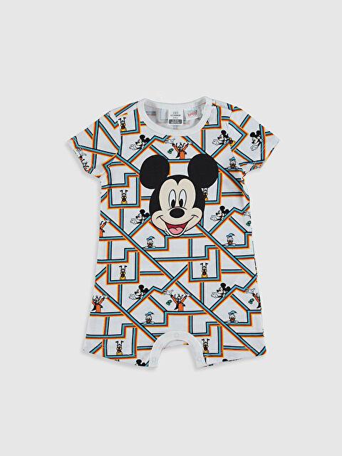 Erkek Bebek Mickey Mouse Baskılı Tulum - LC WAIKIKI