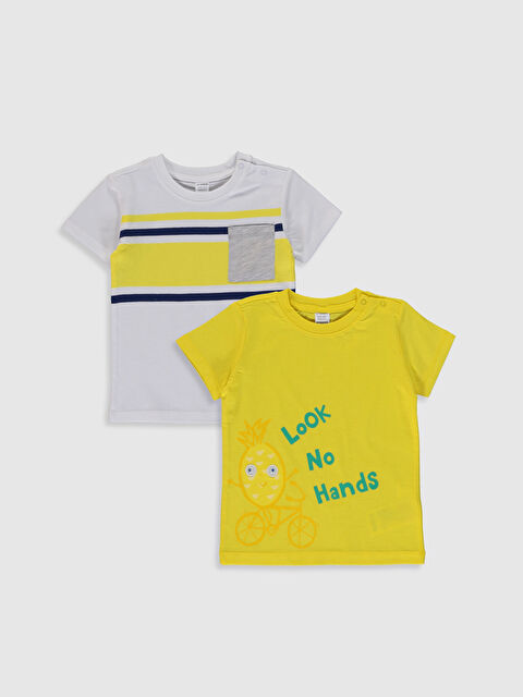 Erkek Bebek  Pamuklu Baskılı Tişört 2'li - LC WAIKIKI