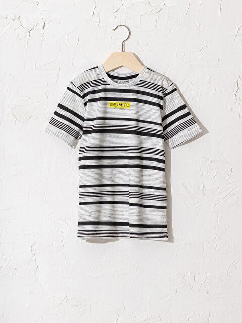 Erkek Çocuk Çizgili Pamuklu Tişört - LC WAIKIKI