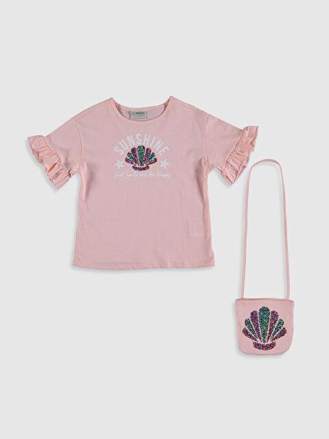 Kız Çocuk Baskılı Tişört ve Çanta - LC WAIKIKI
