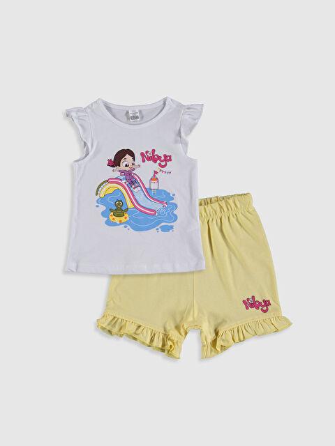 Kız Bebek Niloya Baskılı Pijama Takımı - LC WAIKIKI