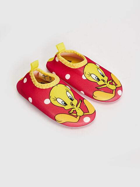 Kız Bebek Tweety Lisanslı Lastikli Plaj Ayakkabısı - LC WAIKIKI