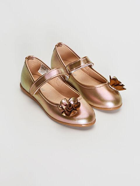 Kız Çocuk Çiçek Detaylı Babet Ayakkabı - LC WAIKIKI