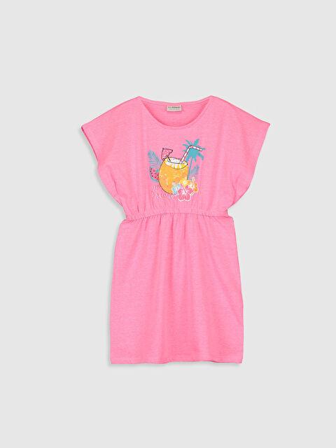 Kız Çocuk Çift Yönlü Payetli Pamuklu Elbise - LC WAIKIKI