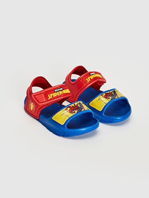 Erkek Bebek Spiderman Lisanslı Cırt Cırtlı Sandalet - LC WAIKIKI