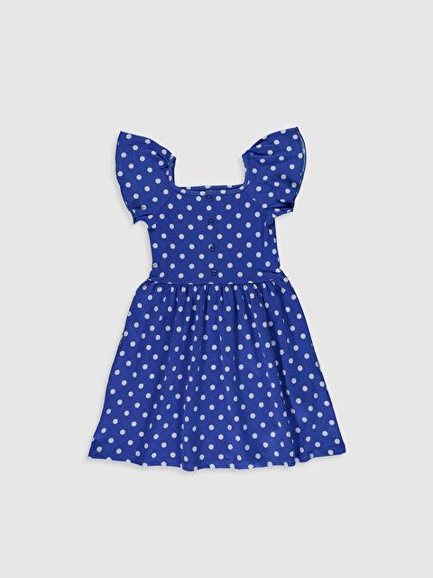Kız Çocuk Puantiyeli Pamuklu Elbise - LC WAIKIKI