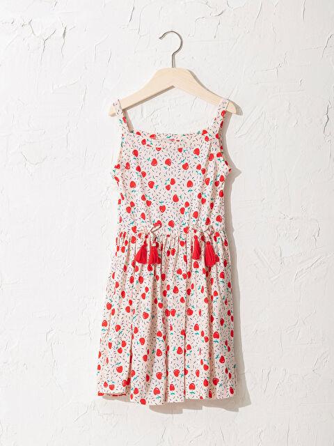 Kız Çocuk Baskılı Viskon Elbise - LC WAIKIKI
