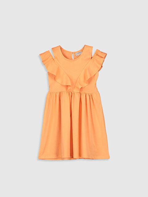 Kız Çocuk Omuzu Açık Elbise - LC WAIKIKI