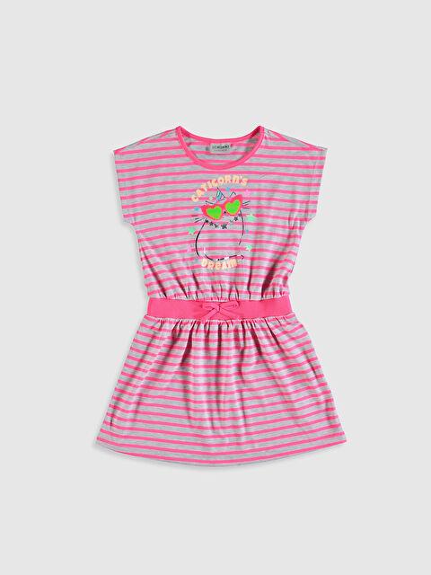 Kız Çocuk Çizgili Elbise - LC WAIKIKI