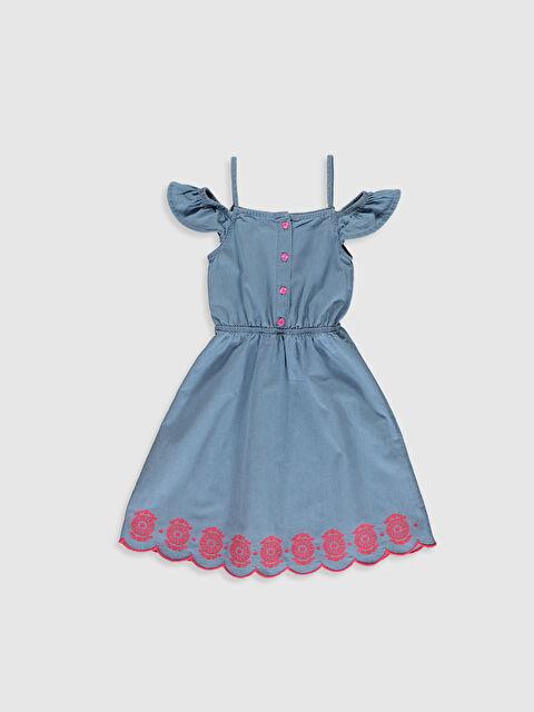 Kız Çocuk Askılı Pamuklu Elbise - LC WAIKIKI