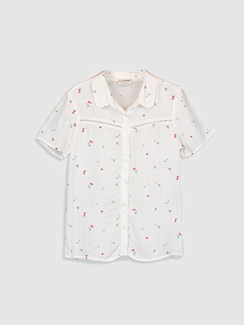 Kız Çocuk Çiçekli Viskon Gömlek - LC WAIKIKI