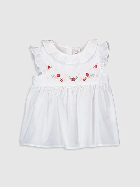Kız Bebek Baskılı Pamuklu Bluz - LC WAIKIKI