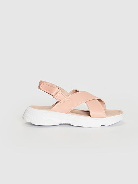Kız Çocuk Çapraz Bantlı Sandalet - LC WAIKIKI