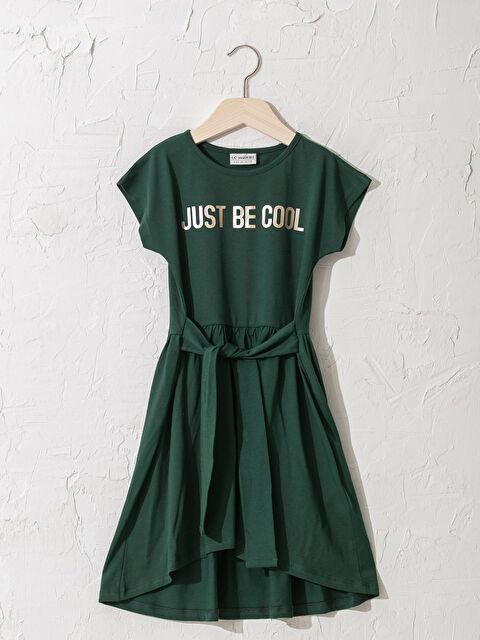 Kız Çocuk Asimetrik Elbise - LC WAIKIKI