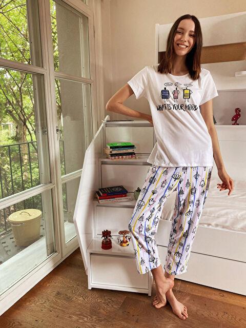 Baskılı Pamuklu Pijama Takımı - LC WAIKIKI