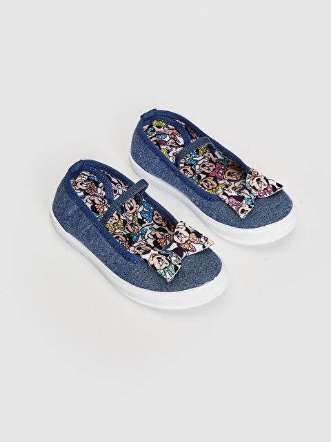 Kız Çocuk Minnie Mouse Lisanslı Denim Babet Ayakkabı - LC WAIKIKI