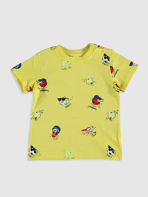 Erkek Bebek Baskılı Pamuklu Tişört - LC WAIKIKI