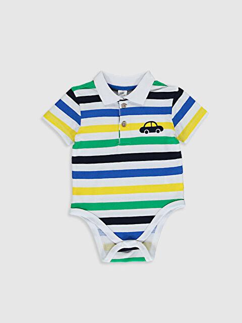 Erkek Bebek Çizgili Çıtçıtlı Body - LC WAIKIKI