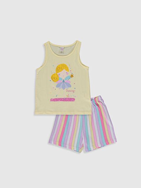 Kız Çocuk Baskılı Pamuklu Pijama Takımı - LC WAIKIKI